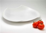 Browne Halco 563891 17.5-in Odal Ceramic Platter, White