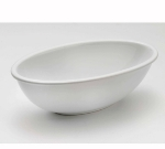 Browne Halco 563896 9-in Taz Ceramic Serving Bowl, White