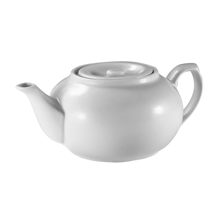 Browne Halco 563933 16-oz Teapot - Porcelain, White