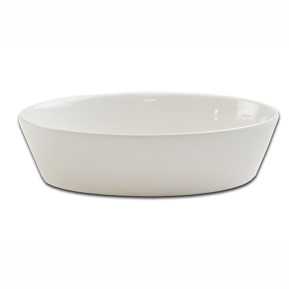 Browne 564004W 9 oz Oval Ceramic Baker Dish, White
