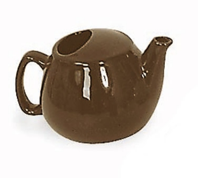 Browne Halco 564023BR 16-oz Brown Ceramic Teapot