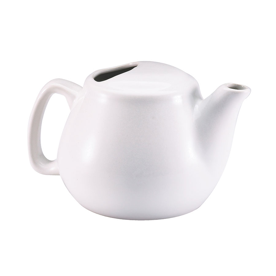 Browne Halco 564023W 16-oz White Ceramic Teapot