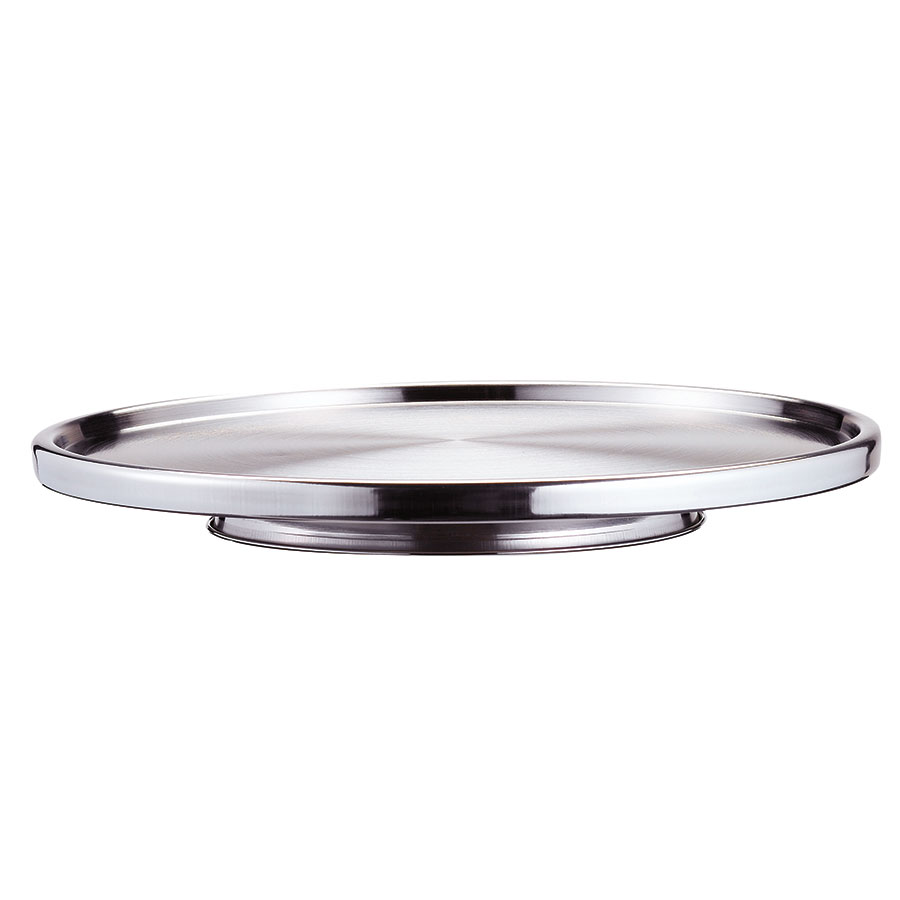 "Browne 57124 12"" Stainless Steel Cake Stand"