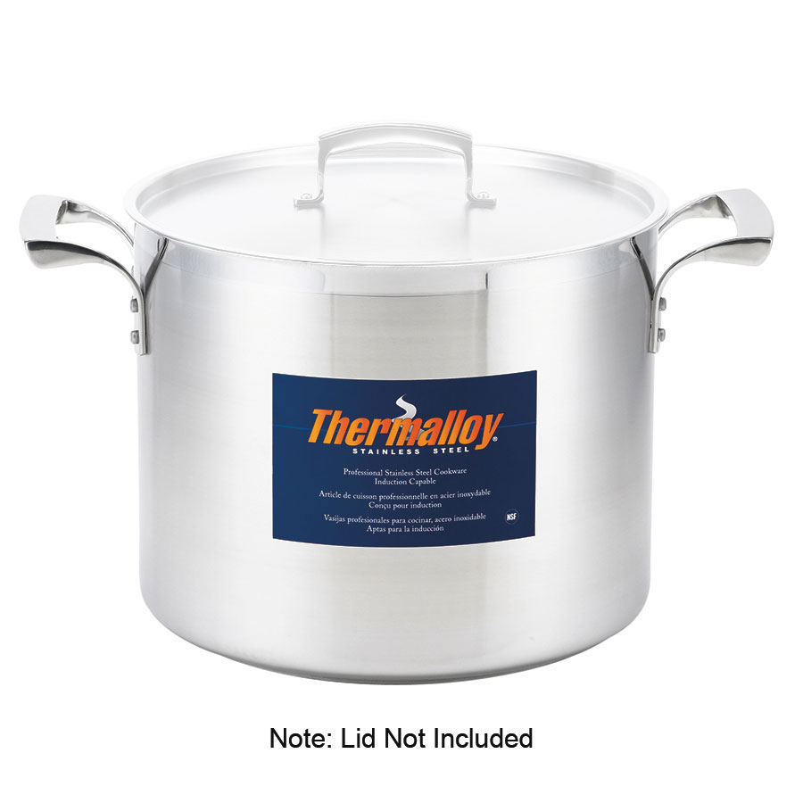 Browne 5723932 32-qt Stainless Steel Stock Pot - Inductio...