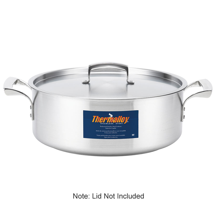 Browne Halco 5724014 Thermalloy Brazier, 15 qt, without Cover, 18/10 Stainless Steel