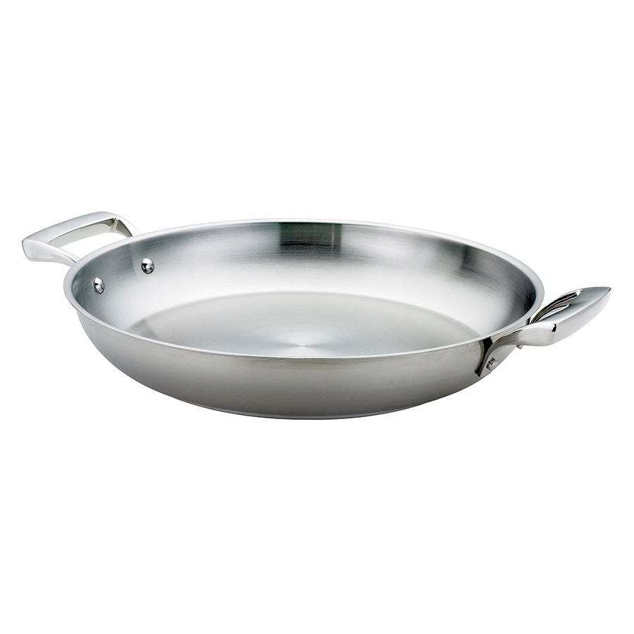 Browne Foodservice 5724173 12.5-in Two Handled Fry Pan, 2-in Deep, Stainless