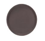 Browne Foodservice 57410206 14 in Round Tray, Anti-Slip Rubber Coating, Brown Fiberglass