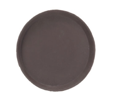 Browne Foodservice 57410106 11 in Round Tray, Anti-Slip Rubber Coating, Brown Fiberglass