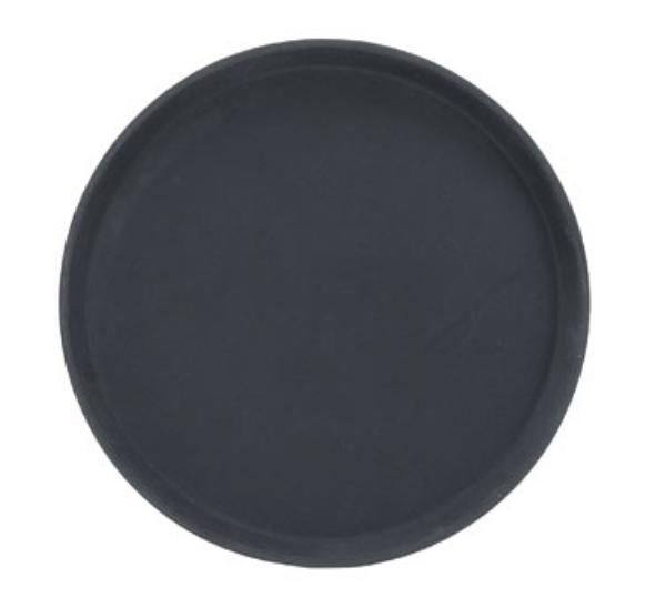 Browne Foodservice 57410202 Tray, Fiberglass, 14 in Diameter, Anti-Slip, Black