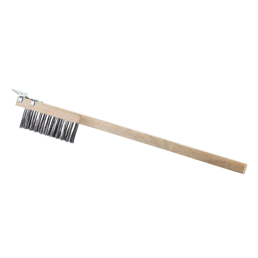Browne Halco 574267 Wire Brush With Scraper, Long Handle
