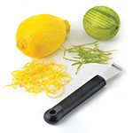 Browne Halco 57 4446 Stainless Steel Lemon Zester, Black Handle