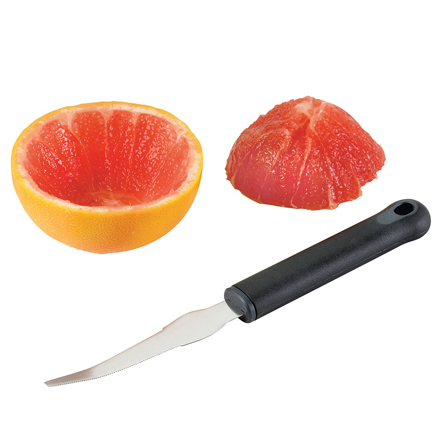 Browne Halco 57 4449 Stainless Steel Grapefruit Knife, Black Handle