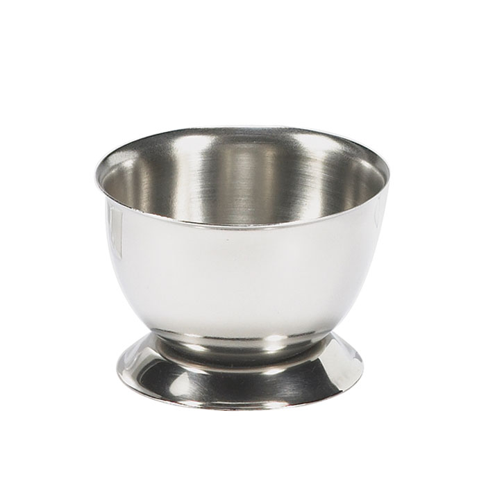 Browne Halco 575063 Egg Cup,  1-1/2 x 2 in, Stainless Steel, Mirror Finish