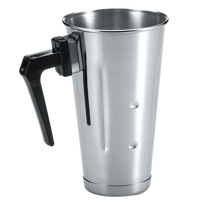 Browne Halco 57512 Malt Cup, 32 oz, with Handle, Stainless Steel