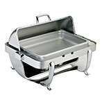Browne Halco 575170 Full Size Chafer w/ Roll-top Lid & Chafing Fuel Heat