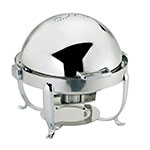 Browne Foodservice 575171 Octave Chafer, Round, 7 qt, Dripless, Roll Top, Stainless Steel