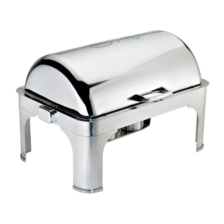 Browne Halco 575175 Full Size Chafer w/ Roll-top Lid & Chafing Fuel Heat