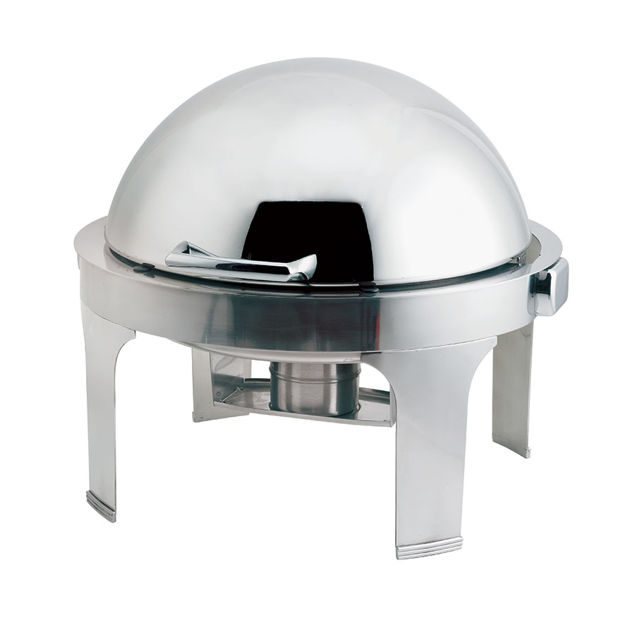 Browne Halco 575176 Round Chafer w/ Roll-Top Lid & Chafing Fuel Heat