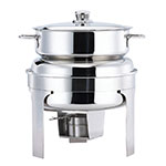 Browne Foodservice 575177 Harmony Soup Station Chafer, 10-1/2 qt, Round, Stainless
