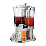 Browne 575198 Juice Dispenser, 2-Ice Chambers, Two 5.3-qt Dispensers, Drip-Tray, Stainless