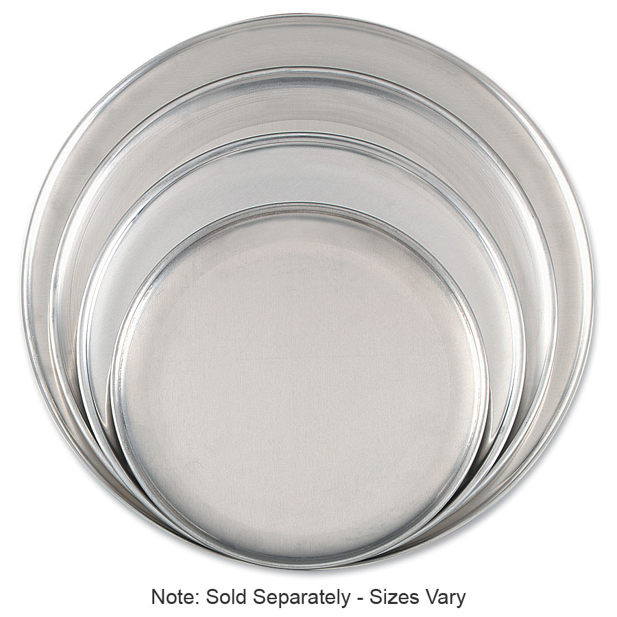 "Browne Halco 575309 Aluminum Pizza Plate, 9"" Diameter, Solid, 1.0 mm Gauge"