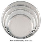 "Browne Halco 575319 Aluminum Pizza Plate, 19"" Diameter, Solid, 1.0 mm Gauge"
