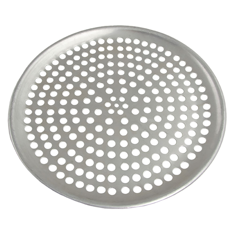 "Browne Halco 575349 Perforated Pizza Plate, 9"" Diameter, 1.0 mm Gauge Aluminum"