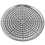 "Browne Halco 575350 Perforated Pizza Plate, 10"" Diameter, 1.0 mm Gauge Aluminum"