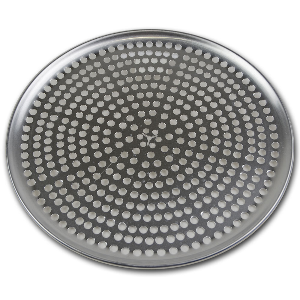 Browne Halco 575352 Perforated Pizza Plate, 12 in Diameter, 1.0 mm Gauge Aluminum