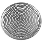 "Browne Halco 575353 Perforated Pizza Plate, 13"" Diameter, 1.0 mm Gauge Aluminum"