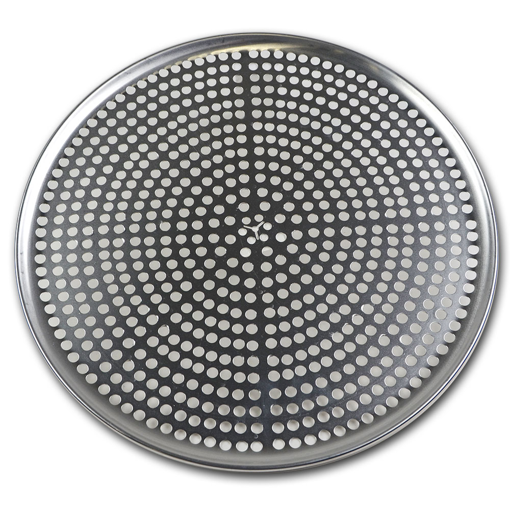 "Browne Halco 575355 Perforated Pizza Plate, 15"" Diameter, 1.0 mm Gauge Aluminum"