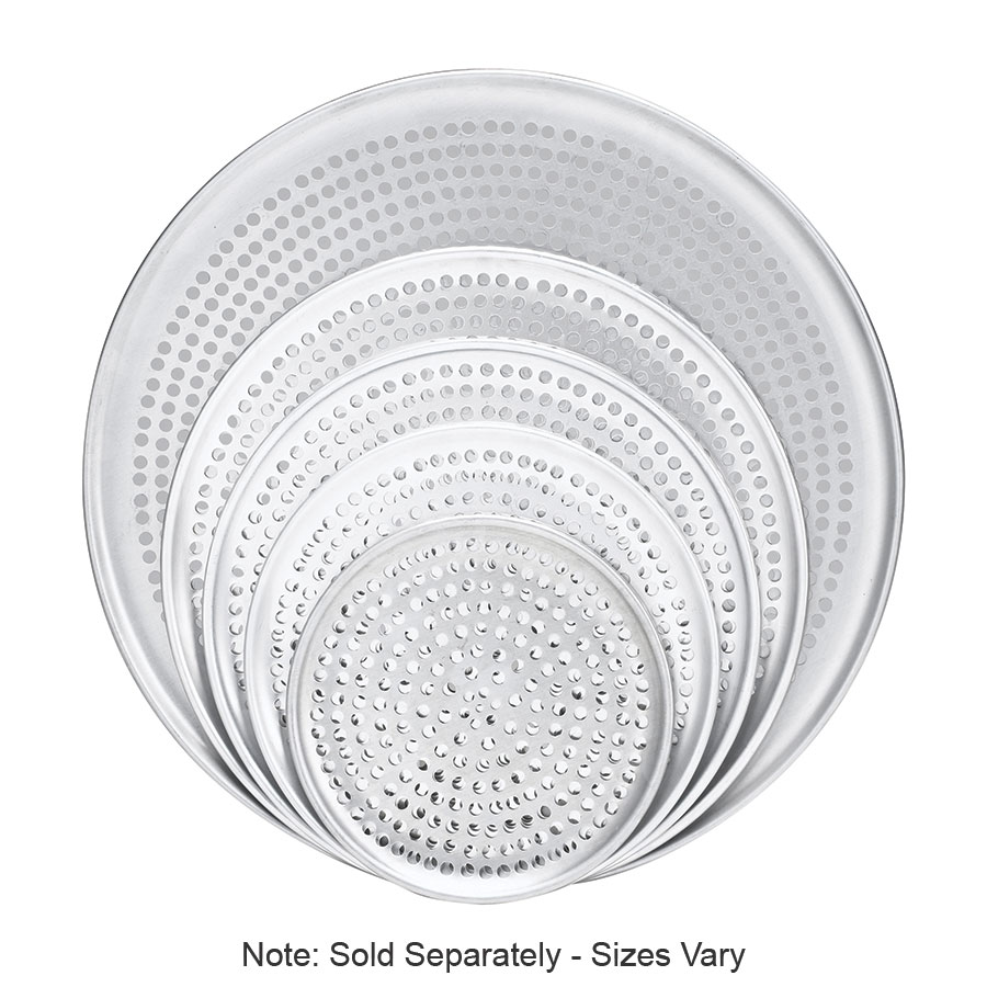 "Browne Halco 575357 Perforated Pizza Plate, 17"" Diameter, 1.0 mm Gauge Aluminum"
