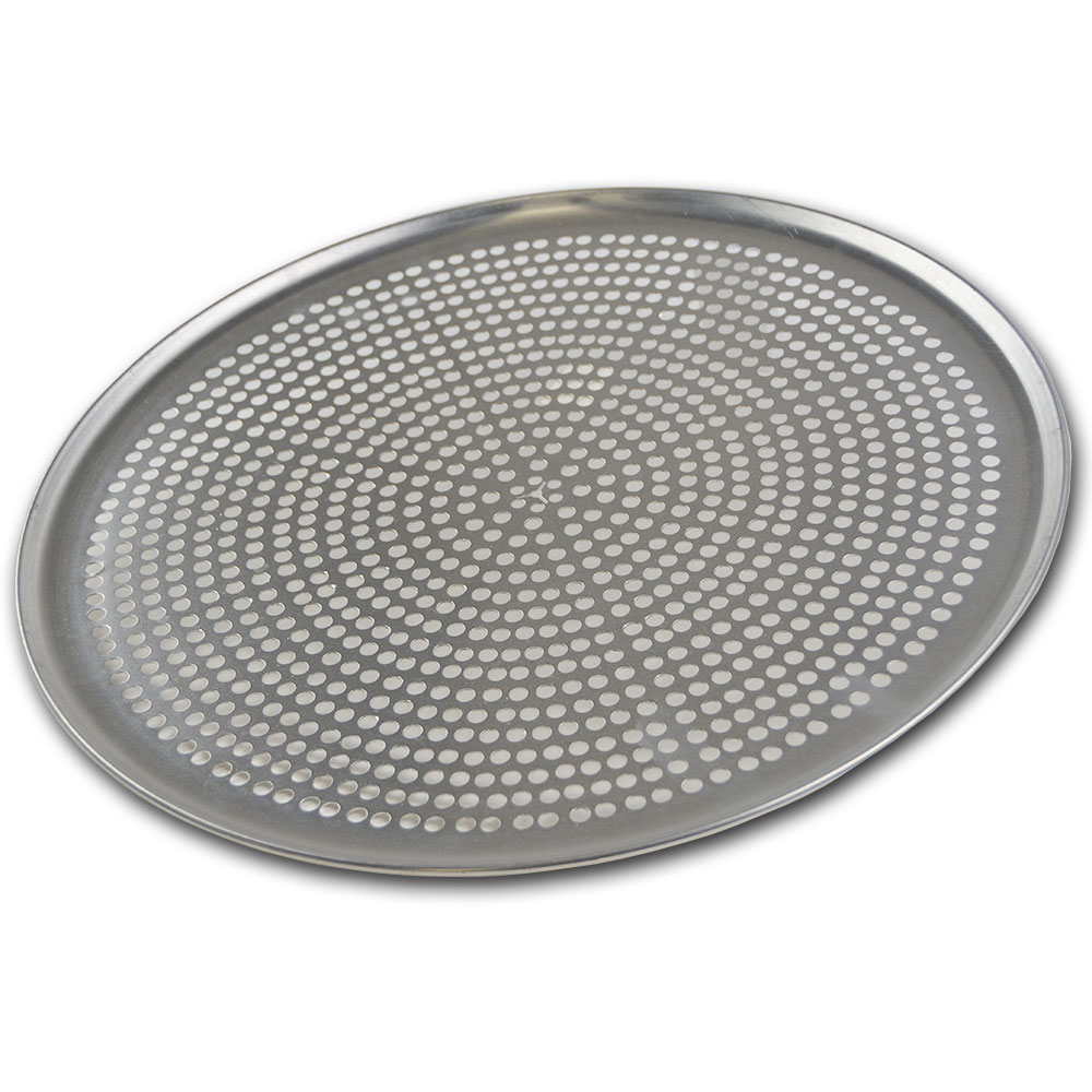 Browne Halco 575359 Perforated Pizza Plate, 19 in Diameter, 1.0 mm Gauge Aluminum