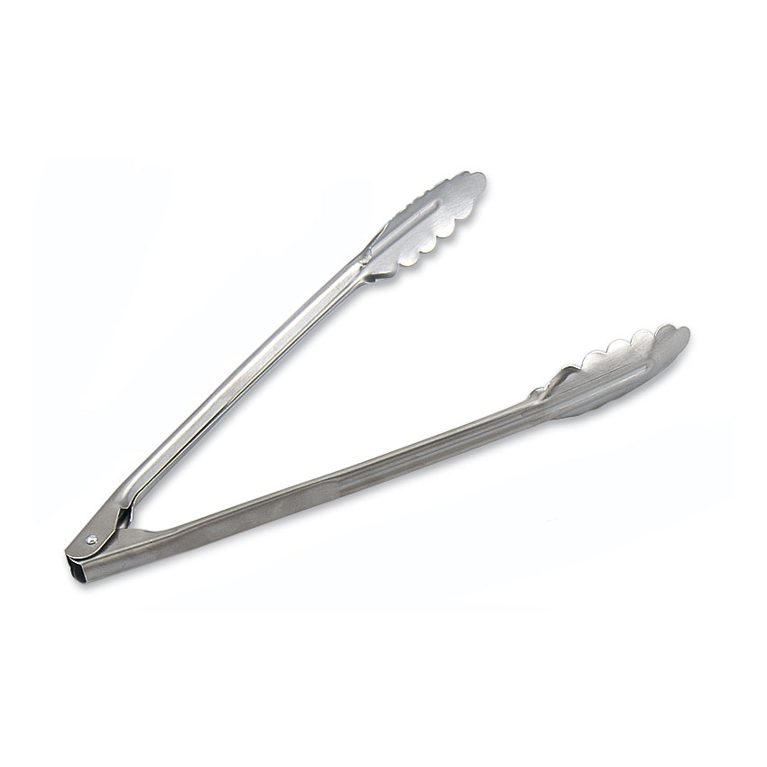 Browne Foodservice 57538 Utility Tongs, 12 in, Heavy Duty, 1.0 mm Gauge