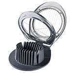 Browne 575685 3-Cut Deluxe Egg Slicer w/Heavy Duty Wires, Cast Chrome
