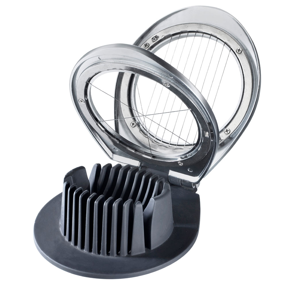 Browne Halco 575685 3-Cut Deluxe Egg Slicer w/Heavy Duty Wires, Cast Chrome