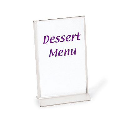 "Browne Halco 575695 Tabletop Menu Card Holder - 3.5"" x 5.5"", Acrylic"