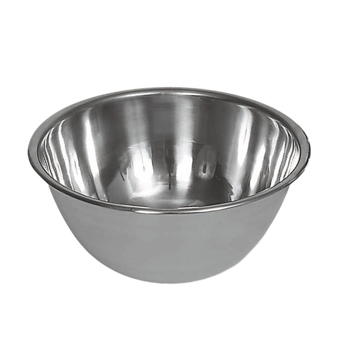 Browne Halco 575906 Mixing Bowl, 6 qt, 10-1/2 in, Deep, 18/8 Stainless Steel