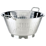 Browne Halco 575952 16.5-in Round European Colander, 16-qt, Loop Handles, Stainless, Mirror Finish