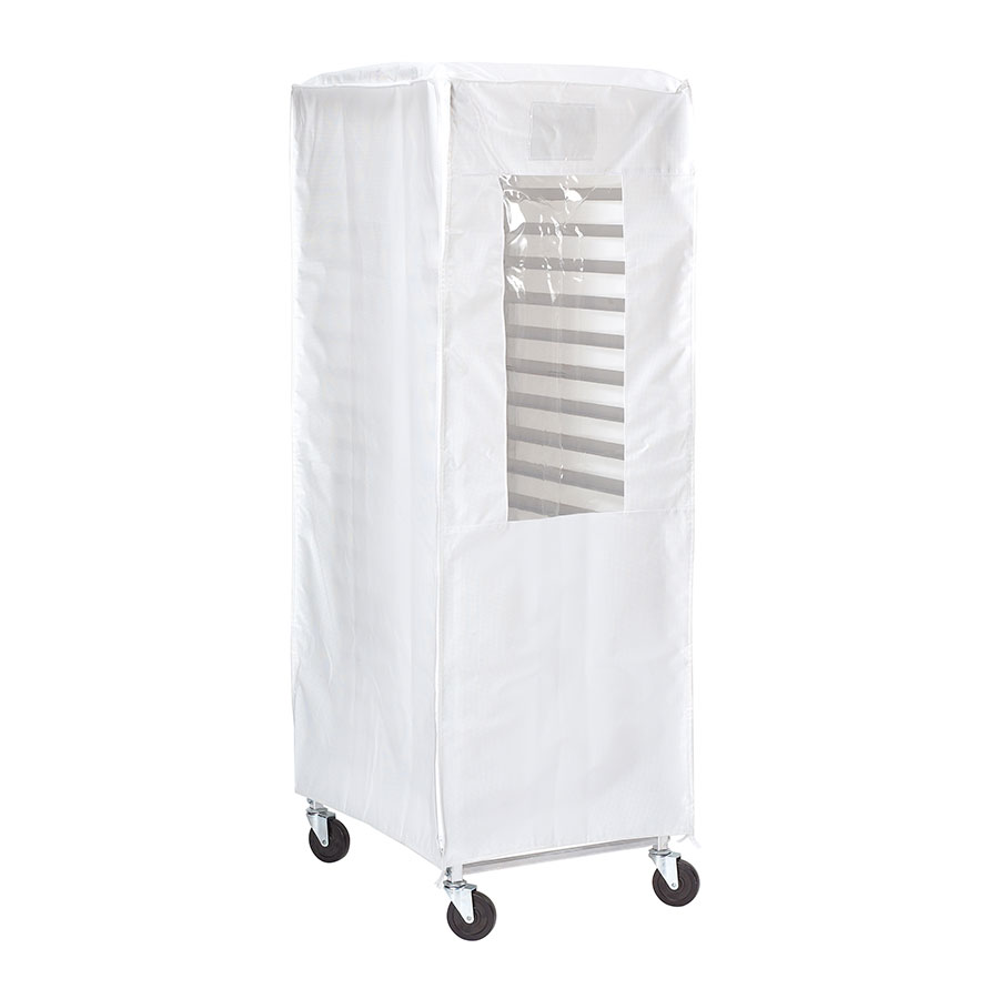 Browne Foodservice 57913401 Heavy Duty Flame Resistant Rack Cover, End Load, White