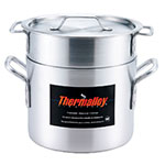 Browne Halco 5813216 Thermalloy Double Boiler Set, Includes 16 qt Pot, Insert & Cover