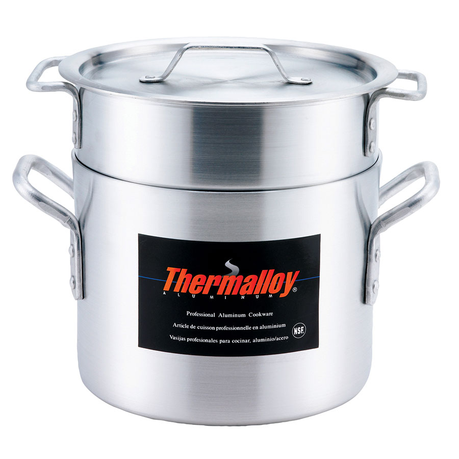 Browne Foodservice 5813216 Thermalloy Double Boiler Set, Includes 16 qt Pot, Insert & Cover