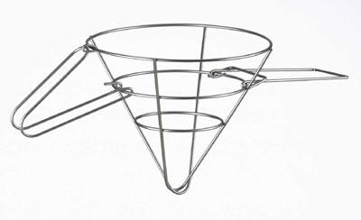 Browne Halco 678 Grease Filter Cone Rack, 18 x 9 in, Wire Rack