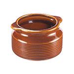Browne Halco 744049BR 12 oz Ceramic Onion Soup Bowl, No Side Handle, Brown
