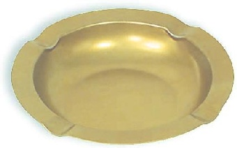 Browne Foodservice 744176 Ash Tray, 5-3/4in, Gold Metal