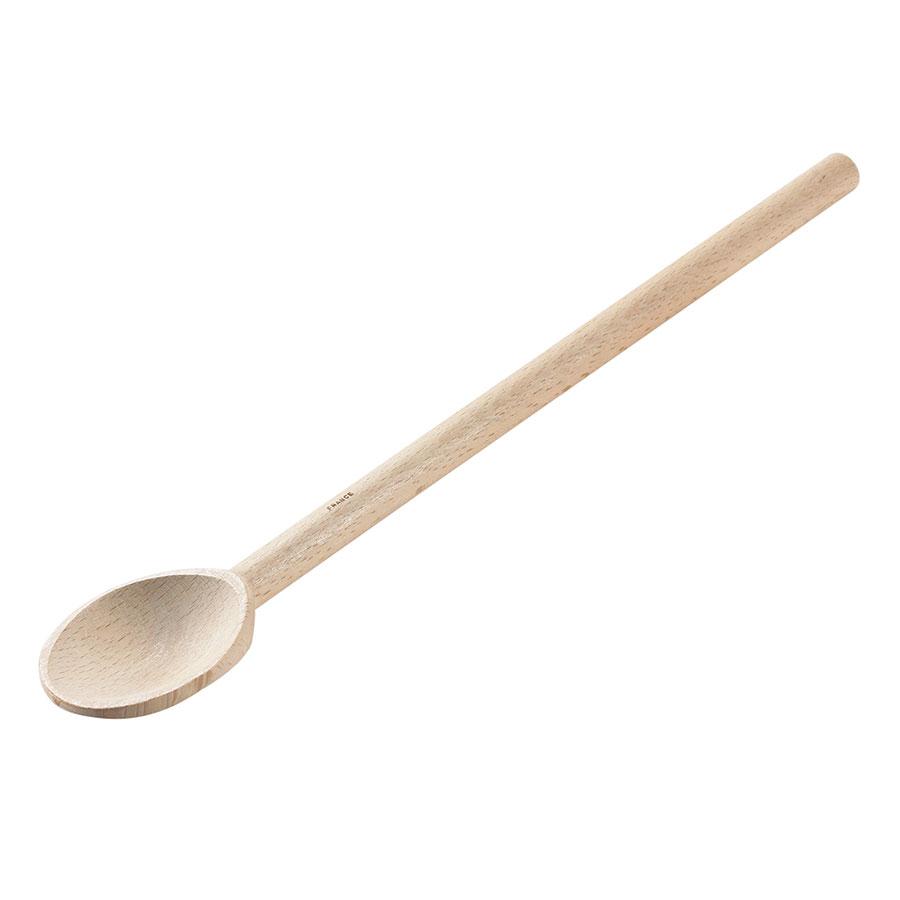 Browne Foodservice 744566 Wood Spoon, 16 in, Heavy Duty, Alpine Beechwood w/ Wax Finish