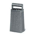 Browne 746127 Box Grater, Stainless Steel, Round Handle