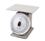 Browne Foodservice 74867 Countertop Portion Scale, 2 lb x 1/4 oz Graduation, Fixed 6 in Dial