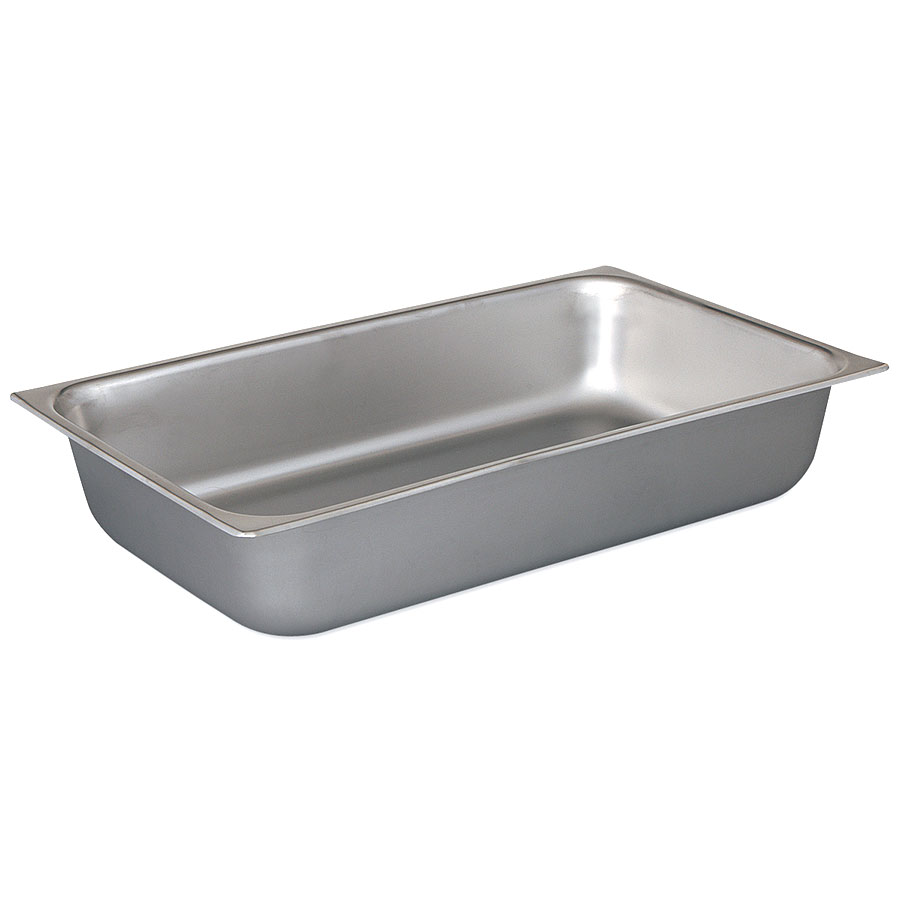 Browne Foodservice 8001 Full-Sized Steam Pan, Stainless