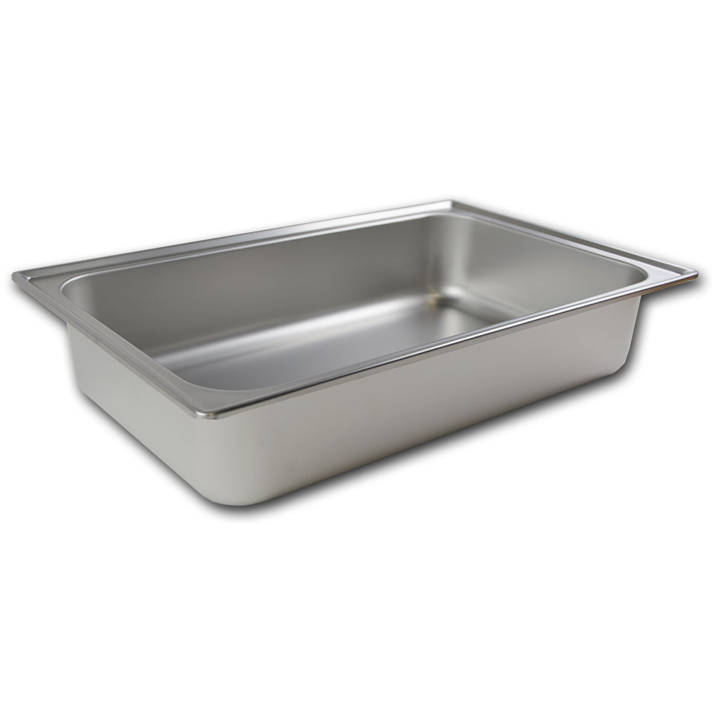 Browne Halco 800412WD Ambassador Water Pan, Full Size, 4-1/2 in, 18/8 Stainless Steel